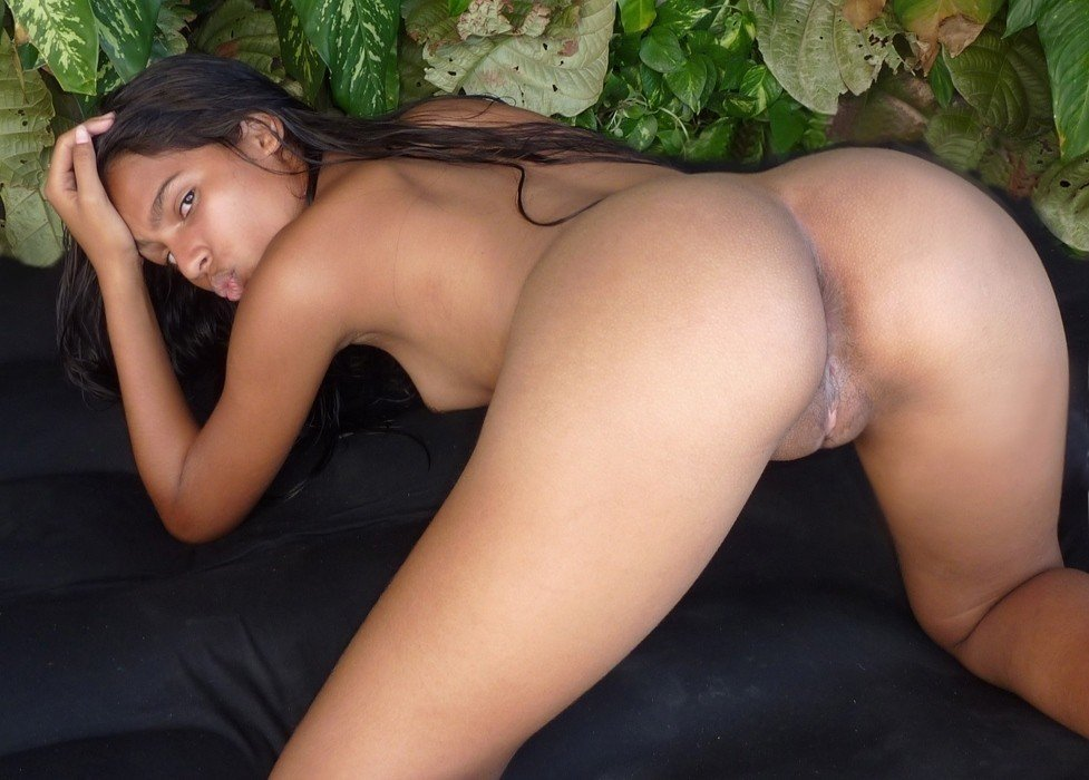 This Model Enjoys Showing Off Her Tender Round Brazilian Puss 1