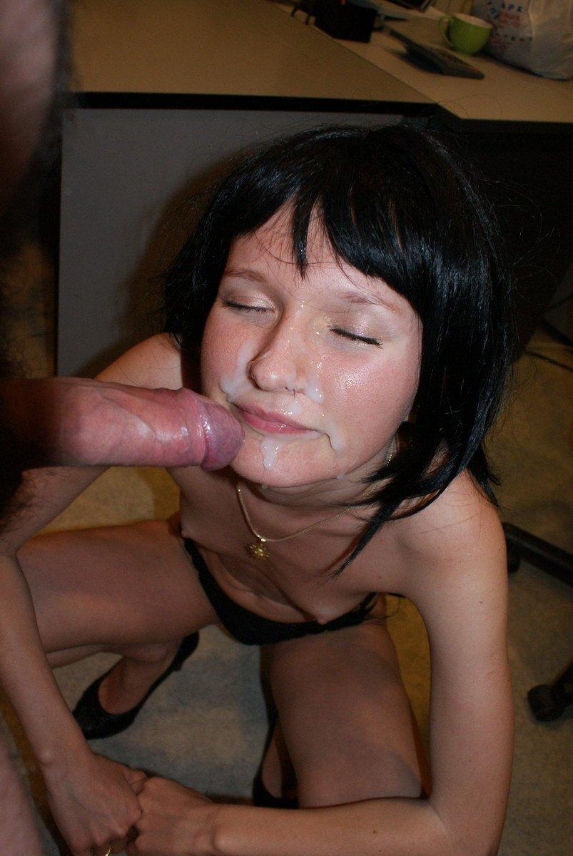 brunette amatrice sperme (3)