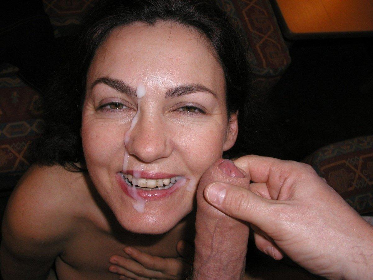 brunette amatrice sperme (5)