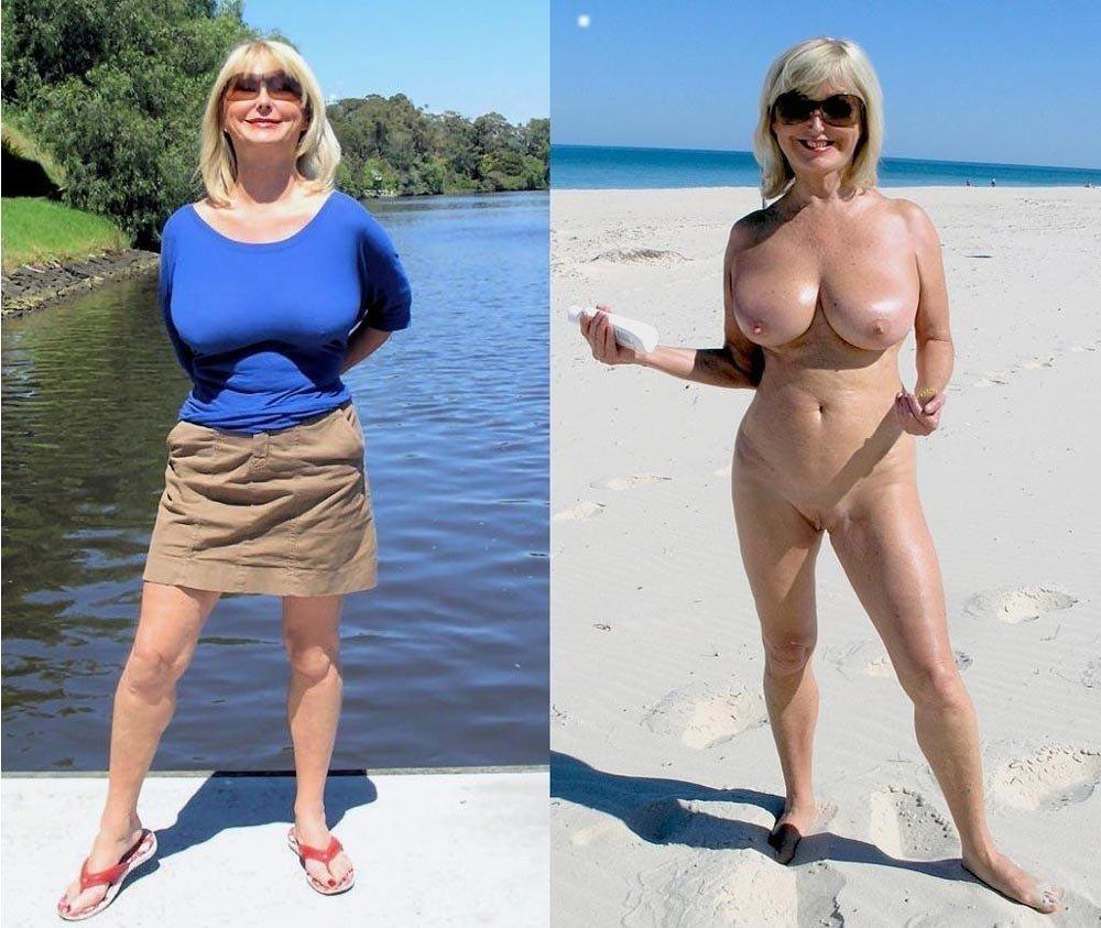Femmes mûres sexy habillées puis nues ensuite