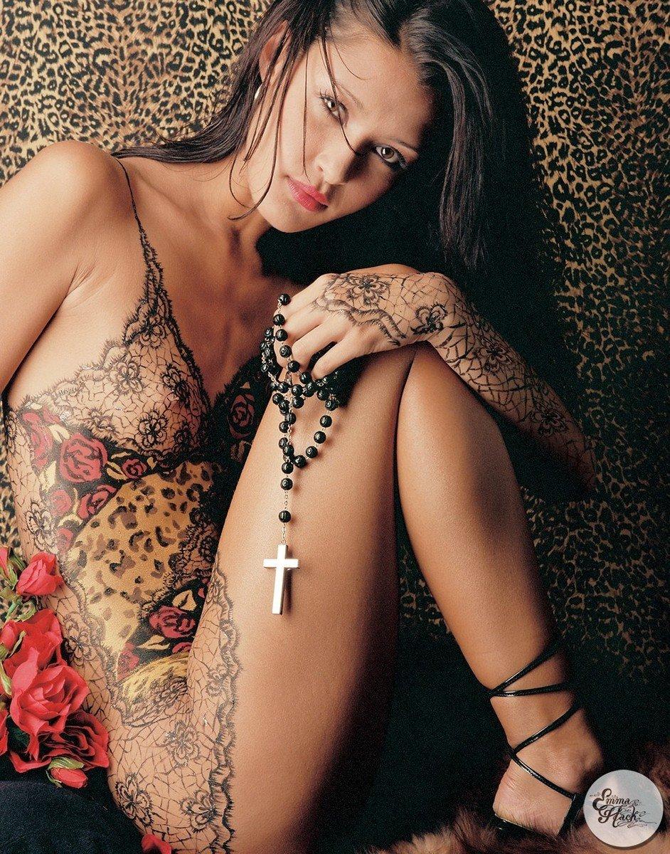 Du body painting sexy hyper réaliste !