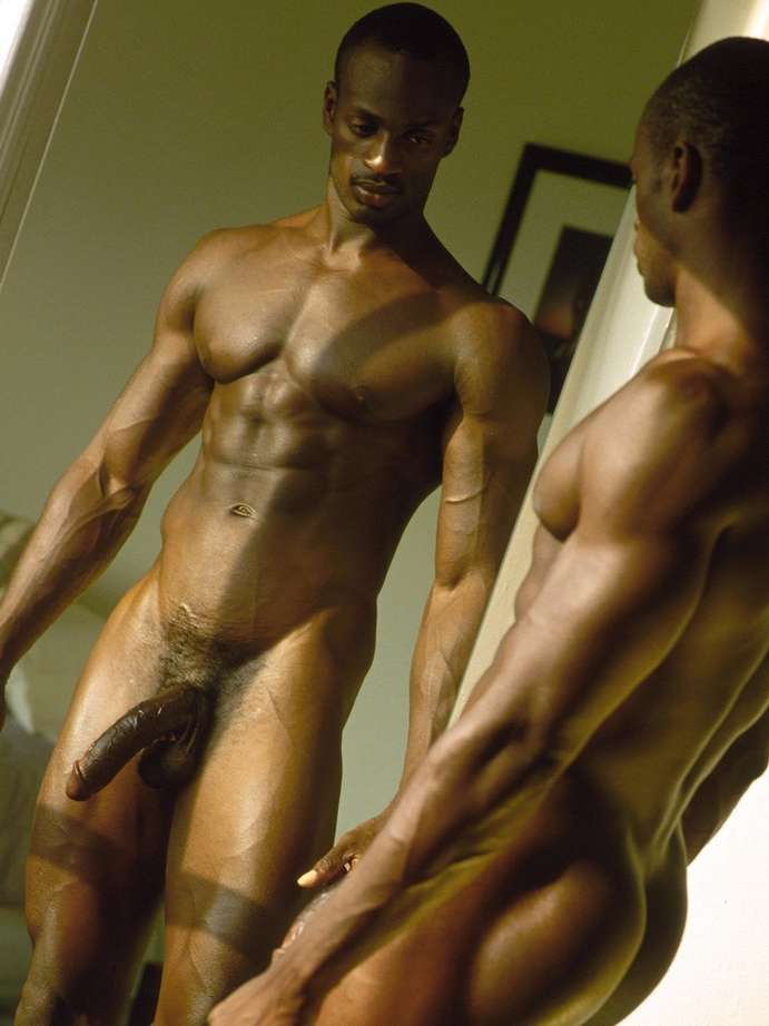 Naked black men models think