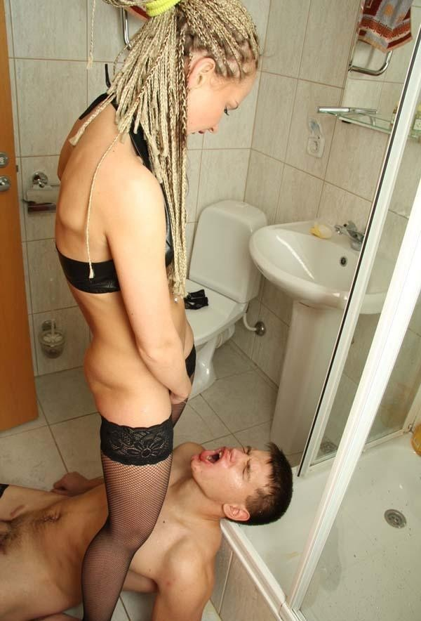 The toilet cleaning sluts anal rj redhead blonde - 3 2