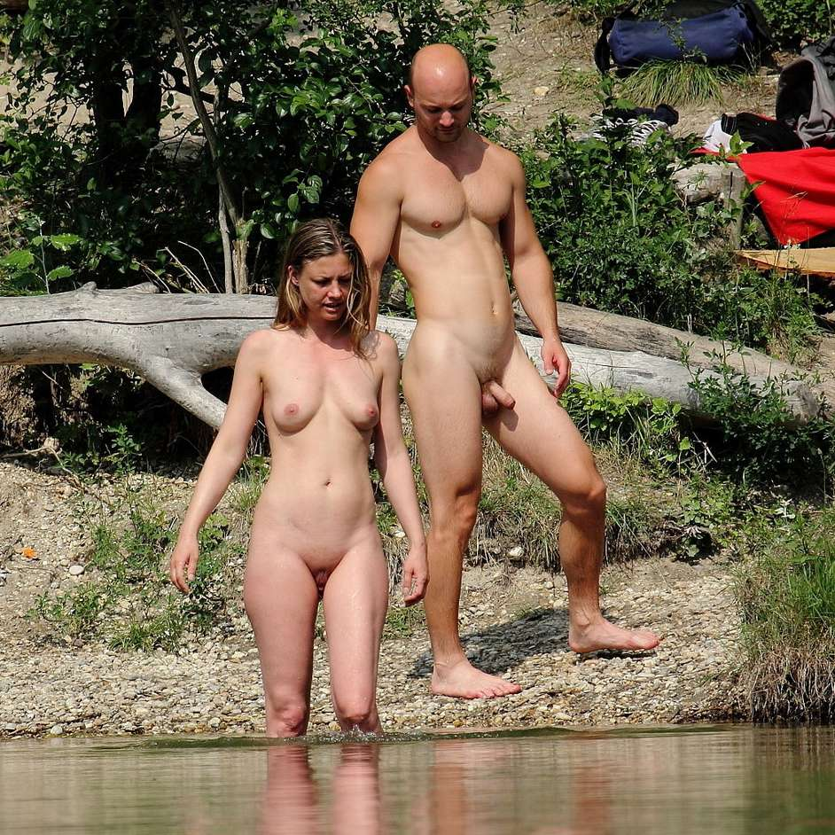 German couples having fun sex outdoor 4