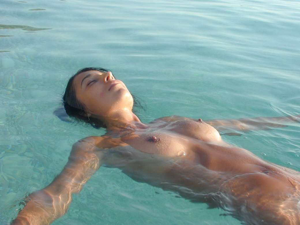 Swimming nude the girls in