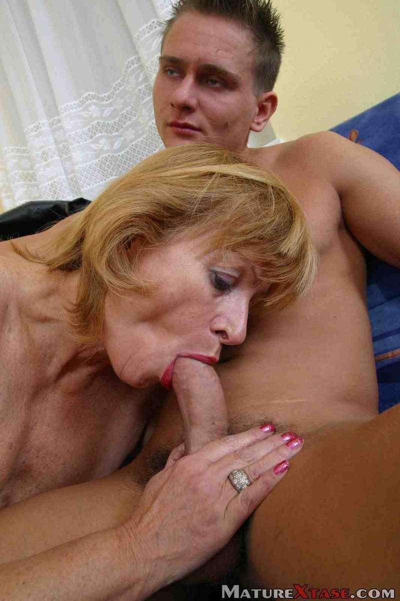 Mom helping son cum