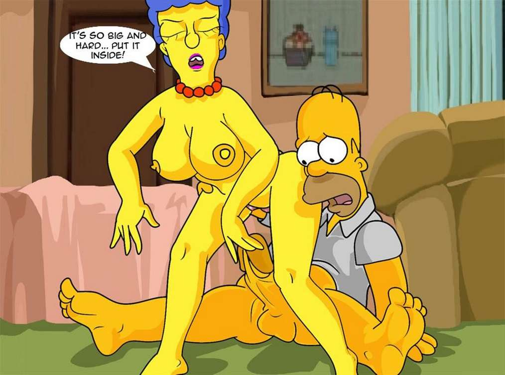 Marge Simpson se prend la grosse bite de Homer