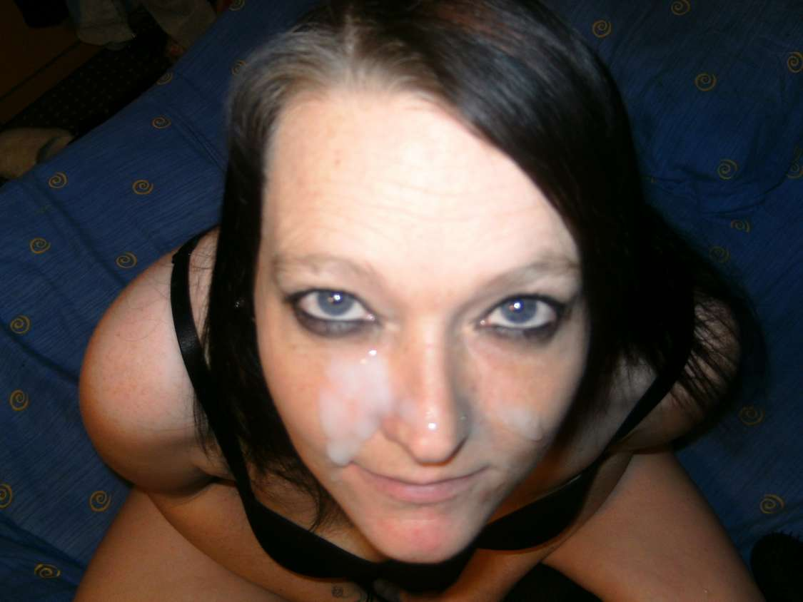 brune fellation faciale amateur