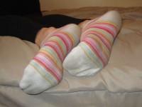 Jolies chaussettes colorées…