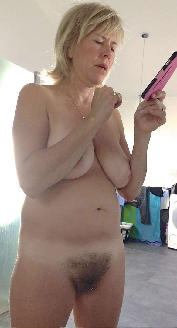 Full frontal nude with bushy pussy share your