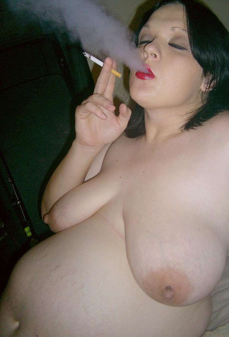 Naked woman cigarette photos