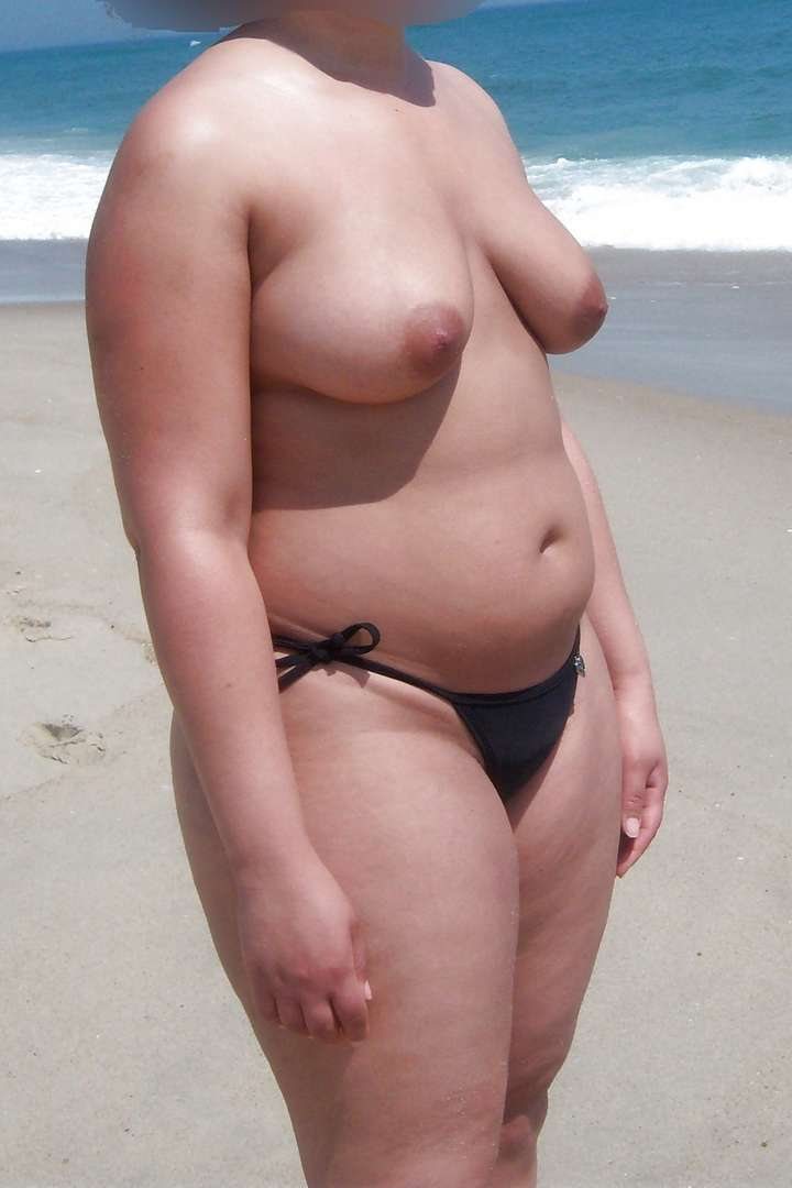 Hot nude wife on beach