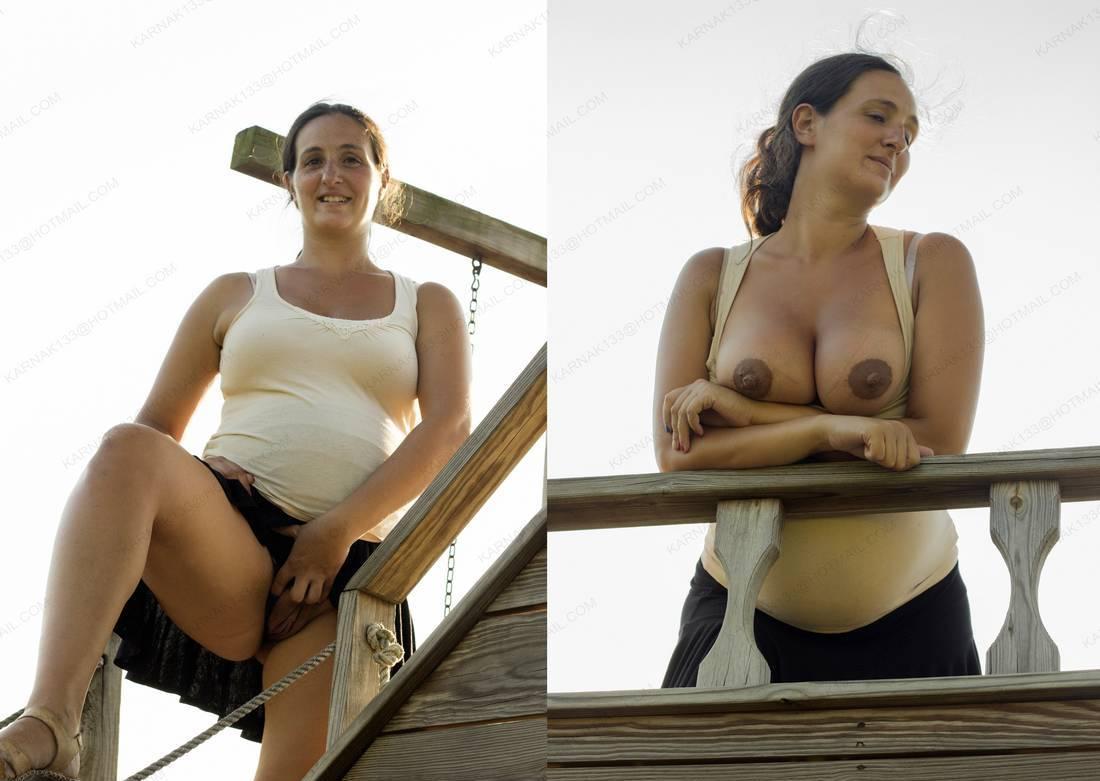 amatrice avant apres enceinte nue (4)