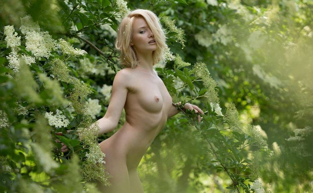 bonasse blonde petits nichons exhibe (120)