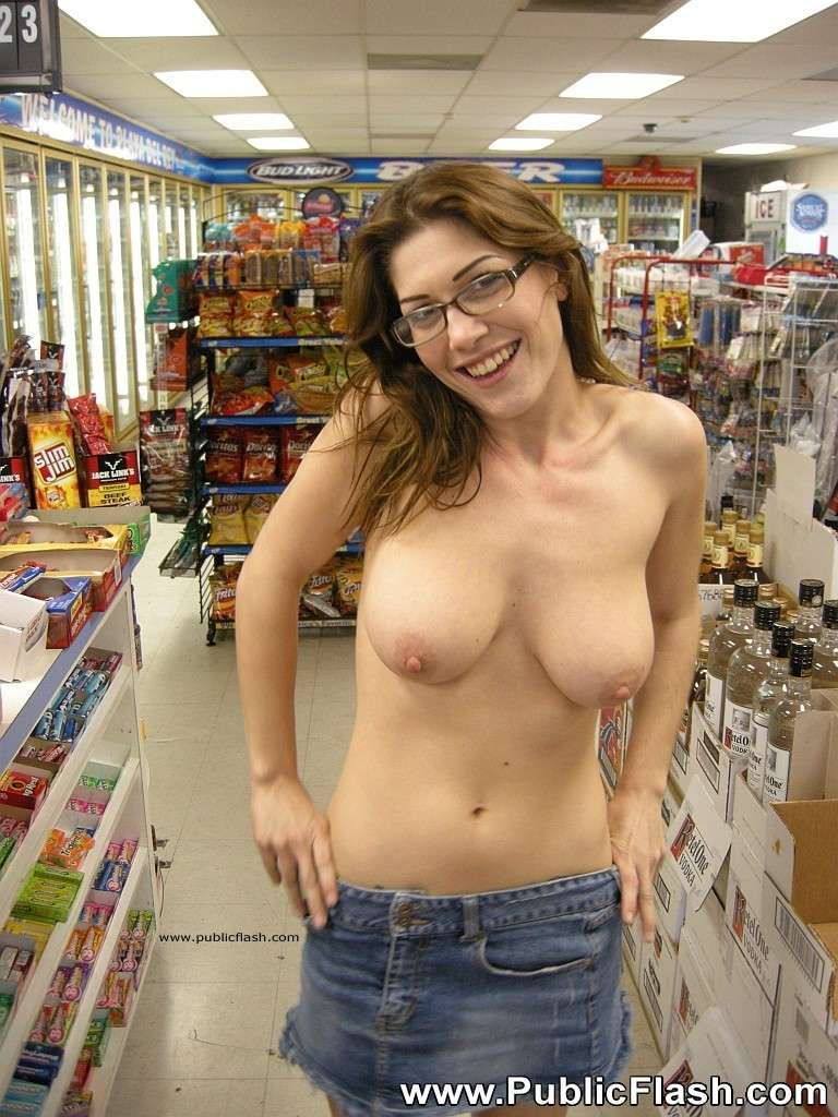 Walmart in topless women