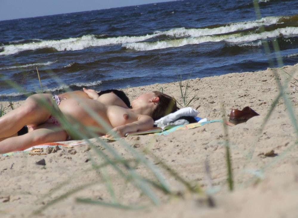 enceinte topless plage (13)