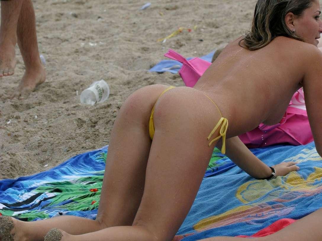fille sexy bikini jaune (31)