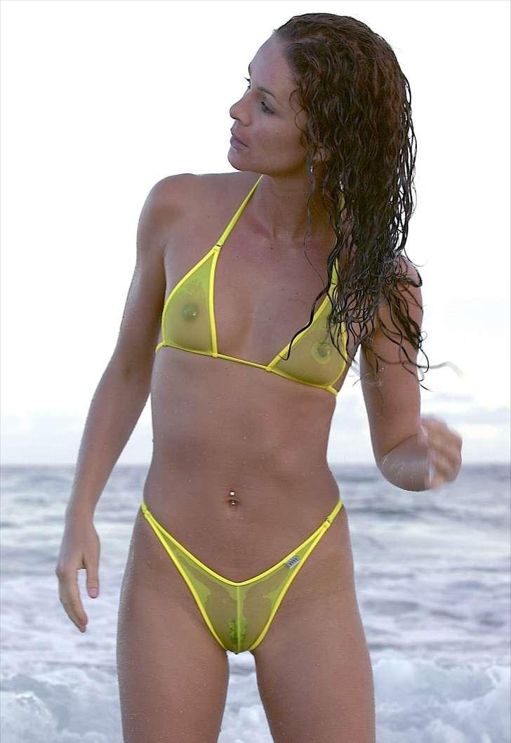 fille sexy bikini jaune (4)