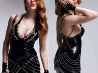 Filles sexy en combinaison latex excitante
