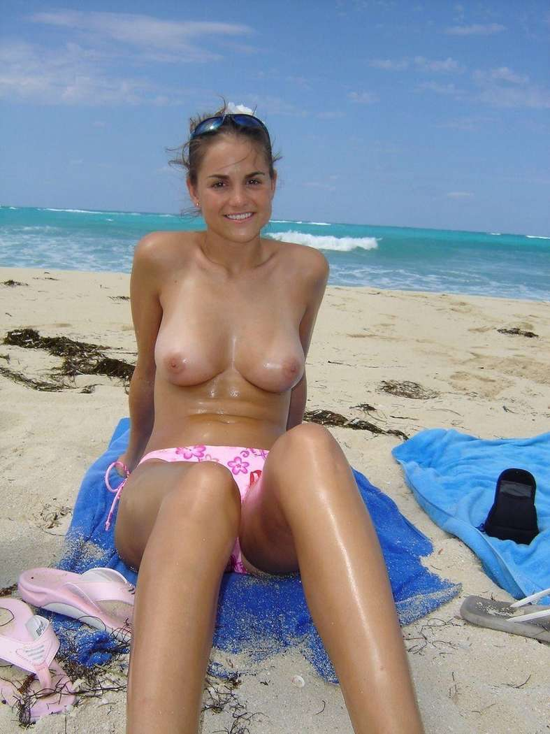 from Theodore nude toppless girlfriend on the beach