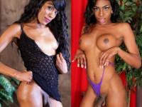 2 belles shemales blacks nues pour vous