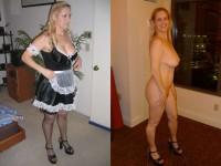 Galerie avant/après d'une amatrice blonde coquine