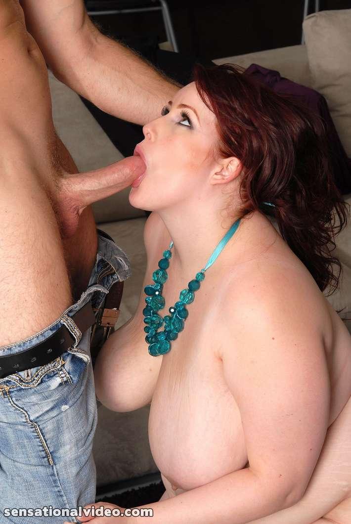 Fat women giving blowjob — img 13